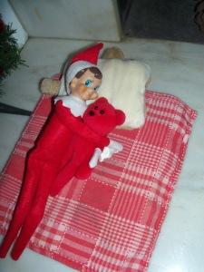 Our actual Elf:  Elfie