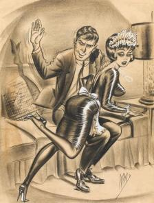 humorama_bill_ward_spanking_the_maid
